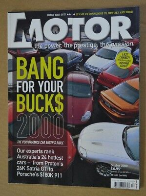 Motor Oct 2000 Callawy C12 Corvette Holden VX Commodore SS Magna VR-X Mazda MX-5