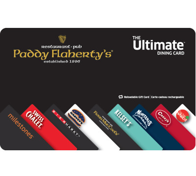 Paddy Flaherty's Gift Card $25, $50, or $100 - Fast email delivery