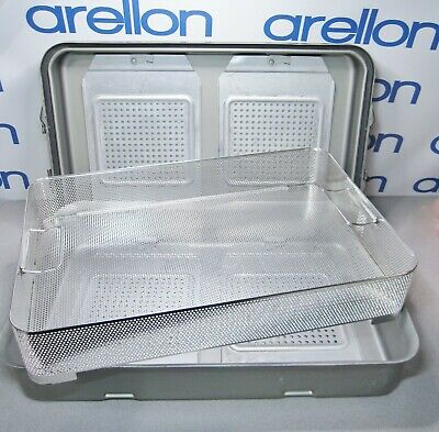 V MUELLER GENESIS RETRACTOR CONTAINER w/BASKET Sterilization / Storage Case/Tray