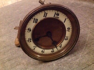 Antique ALM Barrel Clock Movement Dial Bezel Pendulum for Restoration