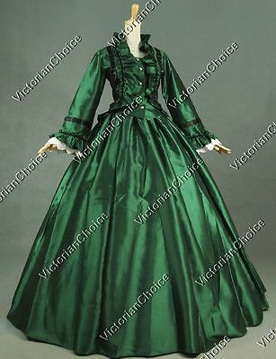 Victorian Dickens Christmas Caroler Dress Ball Gown Theater Clothing 170 XXXL