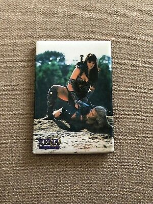 OFFICIAL Xena (Lucy Lawless) Magnet - Xena Tying Callisto Up - NEW NEVER USED