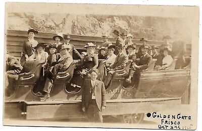 RPPC Tour group, Golden Gate, Frisco Oct, 3rd 1915, Pacific No.10