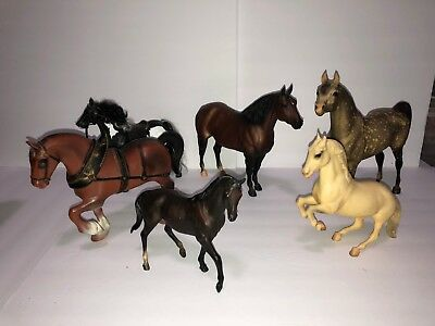 Lot of Six Horses, 3 Vintage Breyer Horses and 3 Other Brands