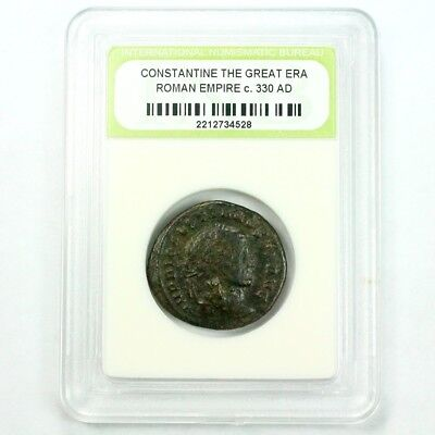 Slabbed Ancient Roman Constantine the Great Coin c. 330 AD Exact Coin Shown 3541
