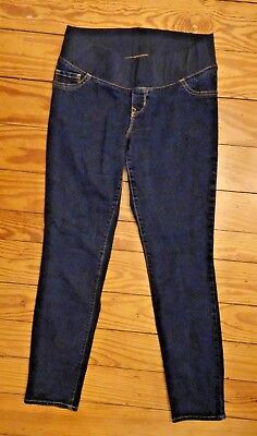 OLD NAVY Maternity Skinny Low Panel JEANS - Size: 8 dark wash pants 4 pregnancy