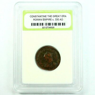Slabbed Ancient Roman Constantine the Great Coin c. 330 AD Exact Coin Shown 3477