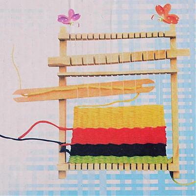 LOOM Wood w. Combs & Shuttles - Christmas gift for a kids or beginner weaving