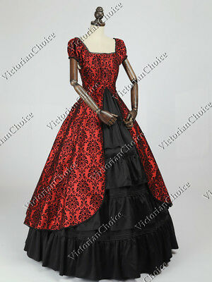 Victorian Gothic Dickens Christmas Holiday Masquerade Ball Dress Theater 020 L