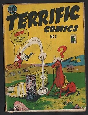 Terrific Comics #2 Bell Features Publishing 1946 Only One On Ebay! Rare!