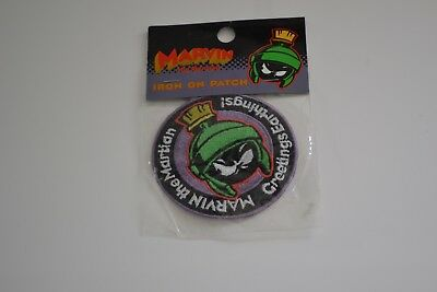 """MARVIN THE MARTIAN Embroidered Iron-OnPatch - """"Warner Bros Studio"""