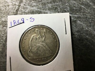1869 Liberty Seated Half Dollar, Extremely Nice (Free Shipping)