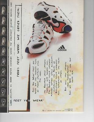 Vintage Print Ad For Adidas Equipment Salvation Running Shoe - Todd Williams