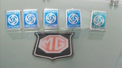 vintage MG british leyland emblems