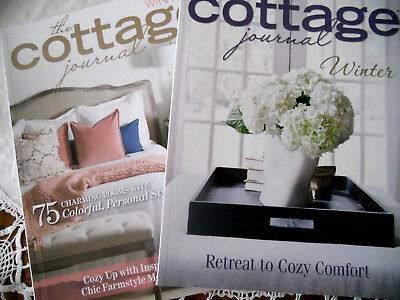 LOT 2 The COTTAGE JOURNAL WINTER ISSUES MAGAZINES 2018 2017