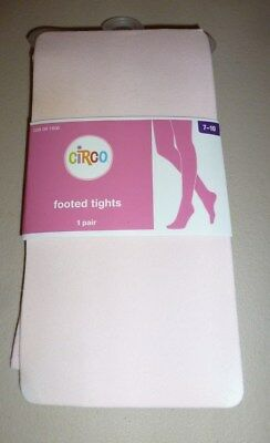 BNWT Girls Circo Brand Pink Footed Tights size 7-10