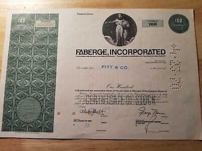 Vintage Faberage Incorporated Share Certificate