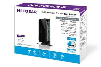 Netgear DGN2200 Wireless N300 ADSL2/2+ Modem Router Wifi WLAN DSL WPS NBN Ready