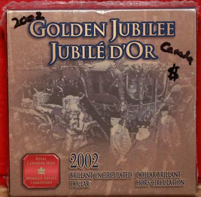 Uncirculated 2002 Silver Canada Golden Jubilee $1 Foreign Coin