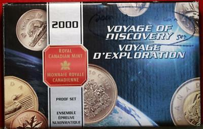 Uncirculated 2000 Canada Voyage Of Discovery $8 Coin Set