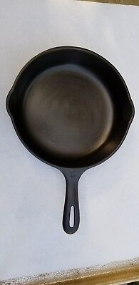 """Unmarked Wagner #6 (9"""") Cast Iron Skillet Cleaned and Seasoned"""