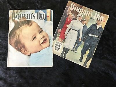 1950s 1958 Vintage  Womens Weekly Magazines X2