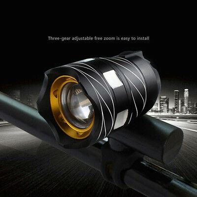 5000LM T6 Zoom LED Head Front MTB Bicycle USB Light Bike Night Lamp Headlight