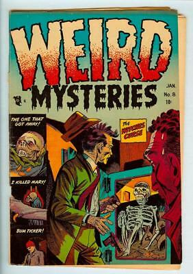 Weird Mysteries #8 1954 Gillmore Publishing Pre-Code Horror - Nice Presentation