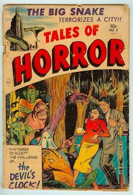 Tales of Horror #3 Toby/Minoan 1952 Pre-Code Horror - 1st Big Snake Cover