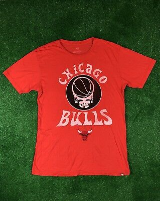 GRATEFUL DEAD CHICAGO BULLS BASKETBALL T Shirt Jerry Gracia Mens Size XL X-Large