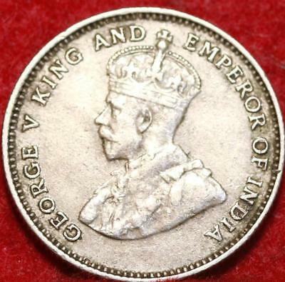 1935 Hong Kong 10 Cents Silver Foreign Coin