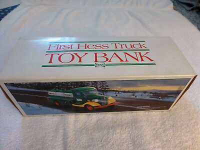 1985 The First Hess Truck Toy Bank,  MINT in its Original Box