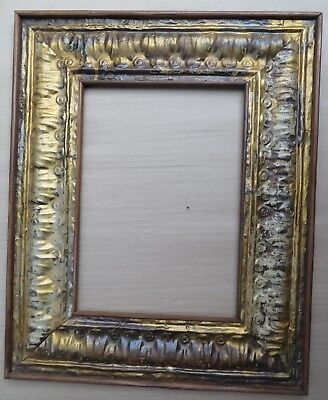 ANTIQUE TIN CEILING RECLAIMED MIRROR PHOTO FRAME Shabby Chic decor WOOD BACK-2