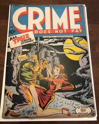 Crime Does Not Pay #33 - Classic Pre-Code Horror/Crime Cover - Lev Gleason
