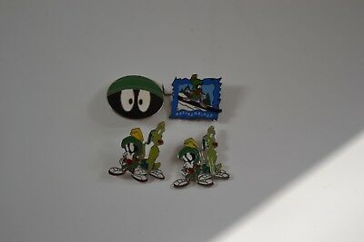 WB Marvin The Martian Head Pin Warner Brothers Studio Looney Tunes 1997(Four)