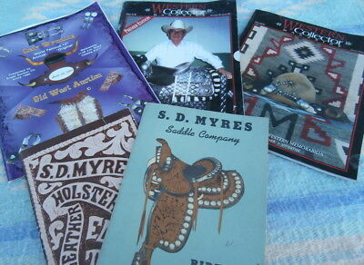 S. D. Myres Saddle Catalogs, Cody Old West Catalog , 2 Western Collector Magz.