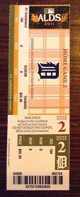 2011 ALDS Home Game 2 Detroit Tigers Playoff Ticket
