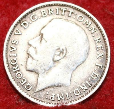 1914 Great Britain 3 Pence Silver Foreign Coin