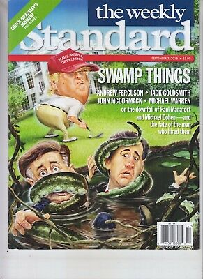 Donald Trump Swamp Things Weekly Standard Magazine September 3 2018 No Label
