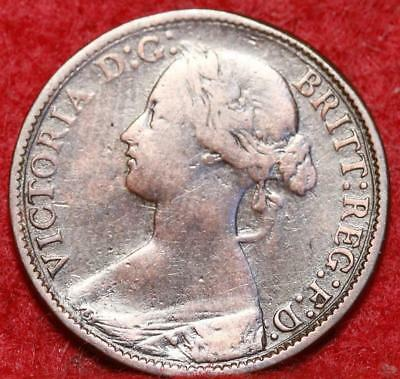 1860 Great Britain 1 Farthing Foreign Coin