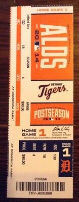 2014 ALDS Home Game 1 Detroit Tigers Playoff Ticket
