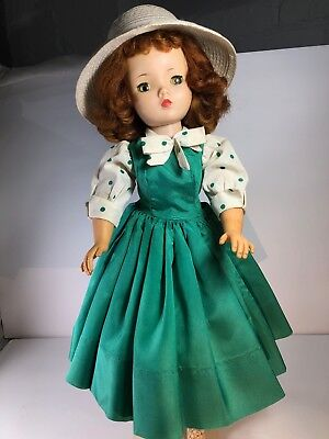 Vintage Cissy Doll in Tagged HTF dress! Original MA SHOES and CRINOLINE +extras!