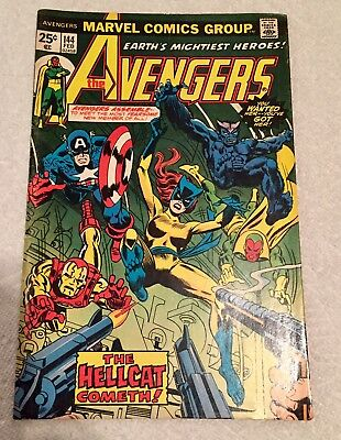 Avengers #144 Marvel 1976 1st Appearance Hellcat  Stan Lee.   Ok Condition