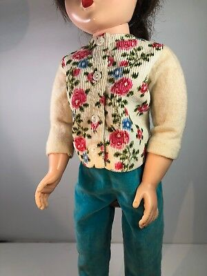 Vintage Cissy NEAR MINT Tagged Outfit--Cardigan & Velvet Pants w/ Shoes-NO DOLL
