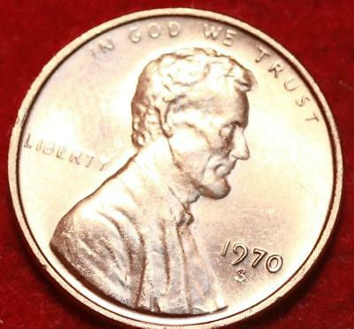 Uncirculated Red Small Date 1970-S Copper Lincoln Cent