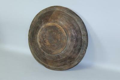 A Rare Pilgrim Period 17Th C American Hand Hewn Plate-Trencher In Old Surface