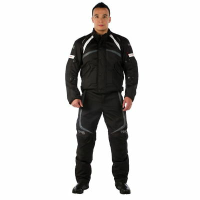 Viper Charger Waterproof Sports Jacket Black/White Motorcycle Motorbike Jackets