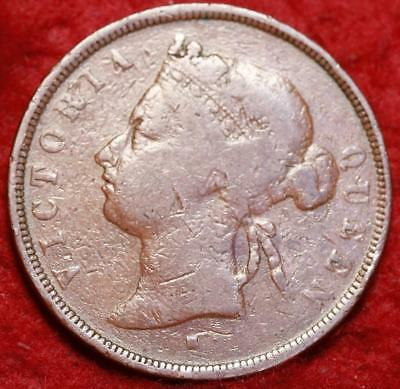 1874-H Straits Settlements 1 Cent Foreign Coin