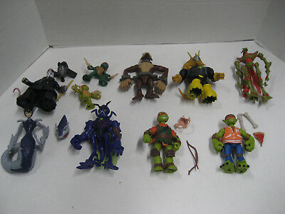2012 Teenage Mutant Ninja turtles Lot of 9 figures 100% complete
