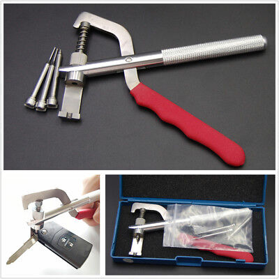 Auto Car Remote Key Blade Pin Disassembling Clamp Locksmith Pilers Tool Kit
